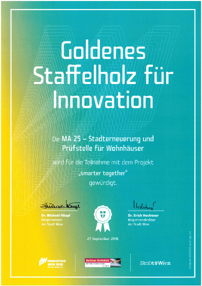 Urkunde Goldenes Staffelholz