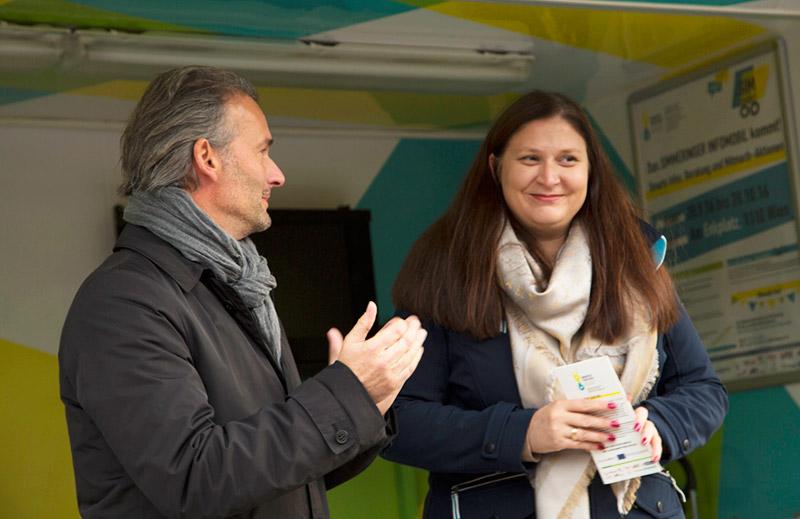MA25-Leiter Jarolim und Landtagsabgeordnete Novak / © Andrea Klem
