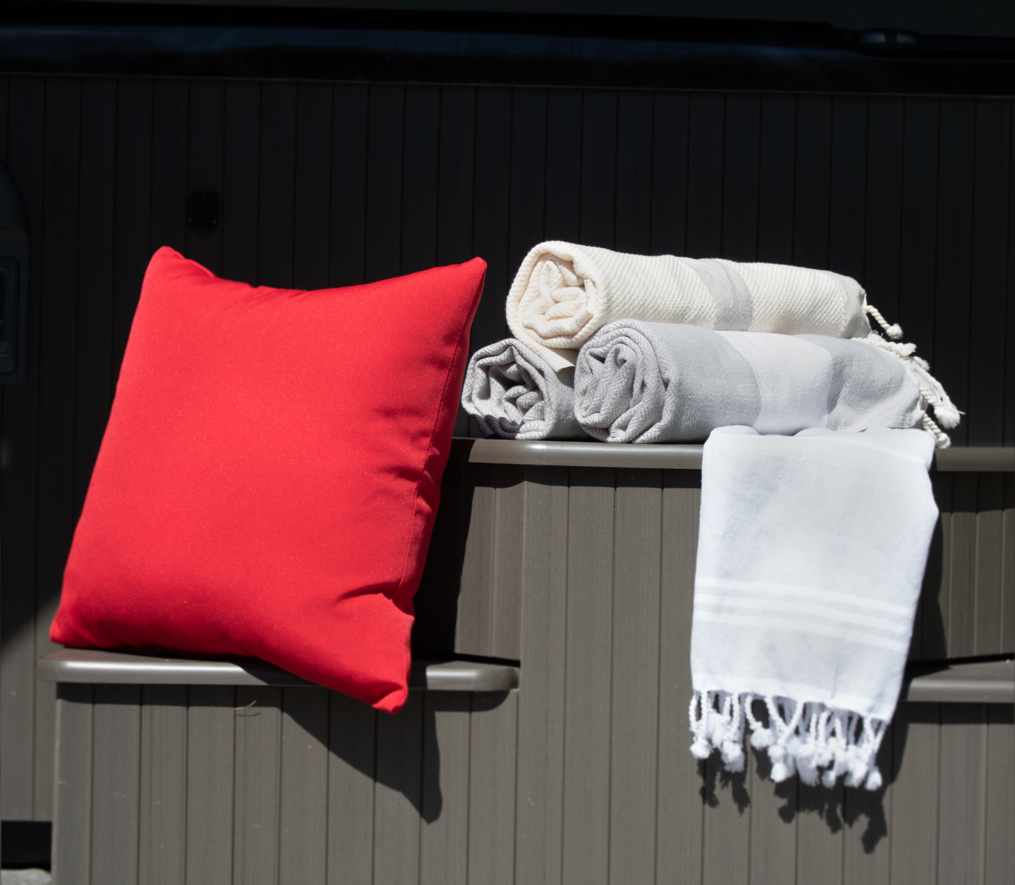 Turkish Towels by Hot Tub