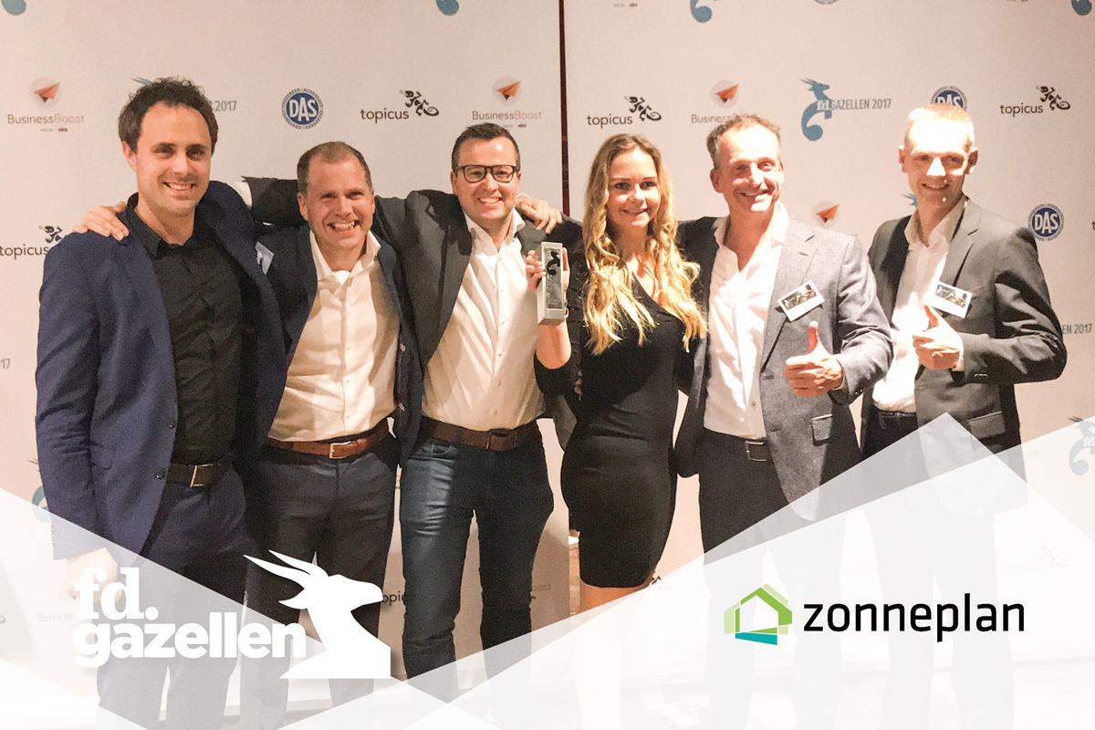 Winnaar FD Gazelle award 2017 Zonneplan