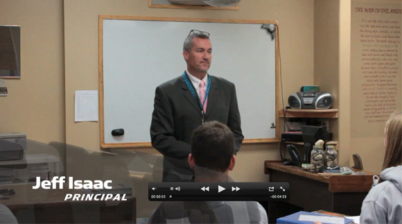 Click here to see video of Principal Isaac's lecture to his Understanding the Times class