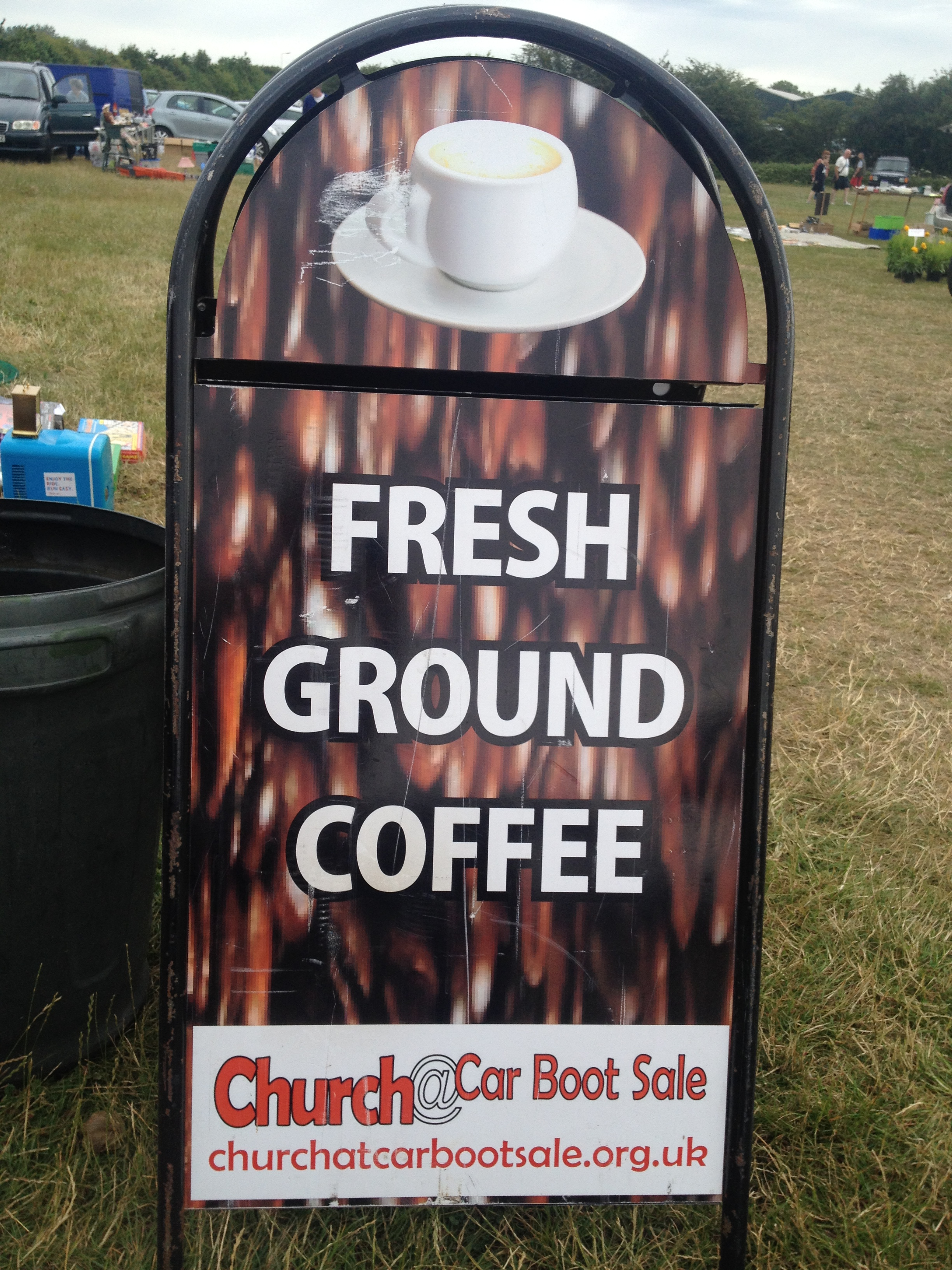 Church@Car Boot Sale Coffee Sign