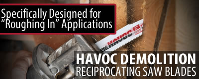 HAVOC Demolition Reciprocating Saw Blades