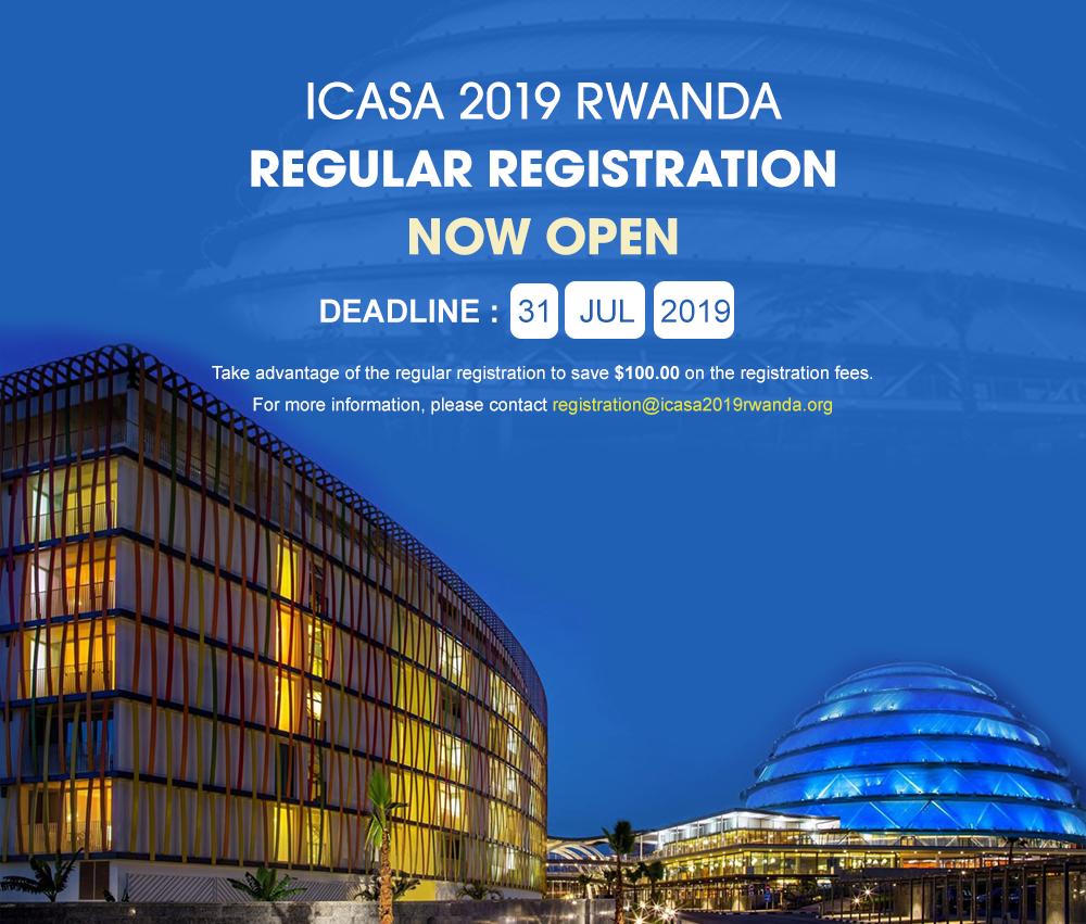 ICASA 2019 Regular Registration