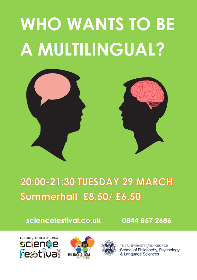 """Who wants to be a multilingual?"" Summerhall, Tuesday 29 March 2016 (20:00 - 21:30)"