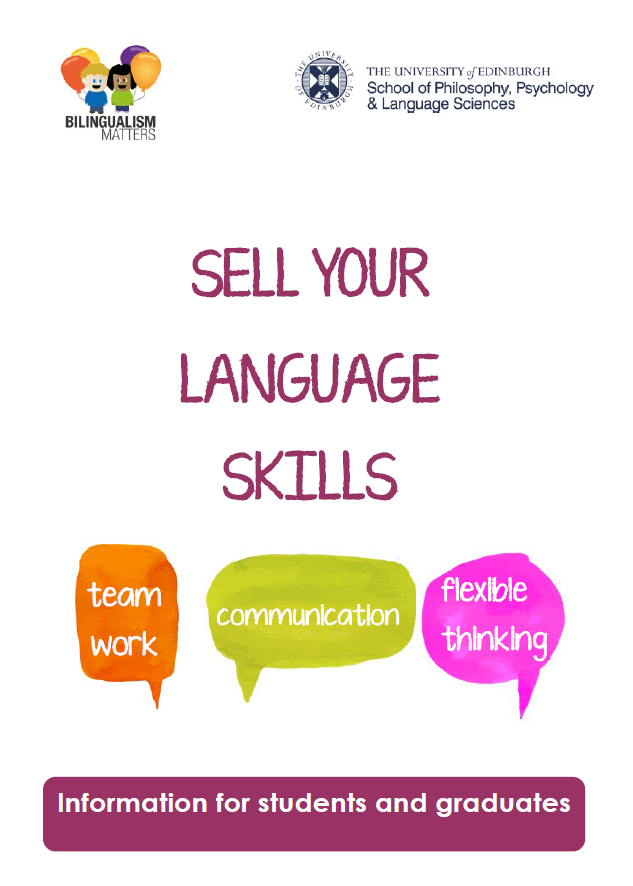 Sel your language skills leaflet - front cover