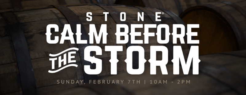 STONE CALM BEFORE THE STORM - 2/7/16