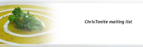 ChrisTonite - Come Dine With Me!