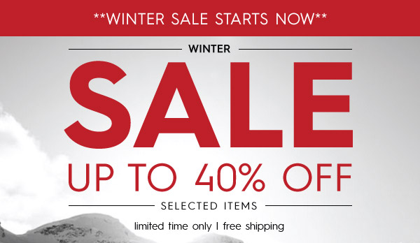 Quiksilver winter sale up to 40% off on selected styles