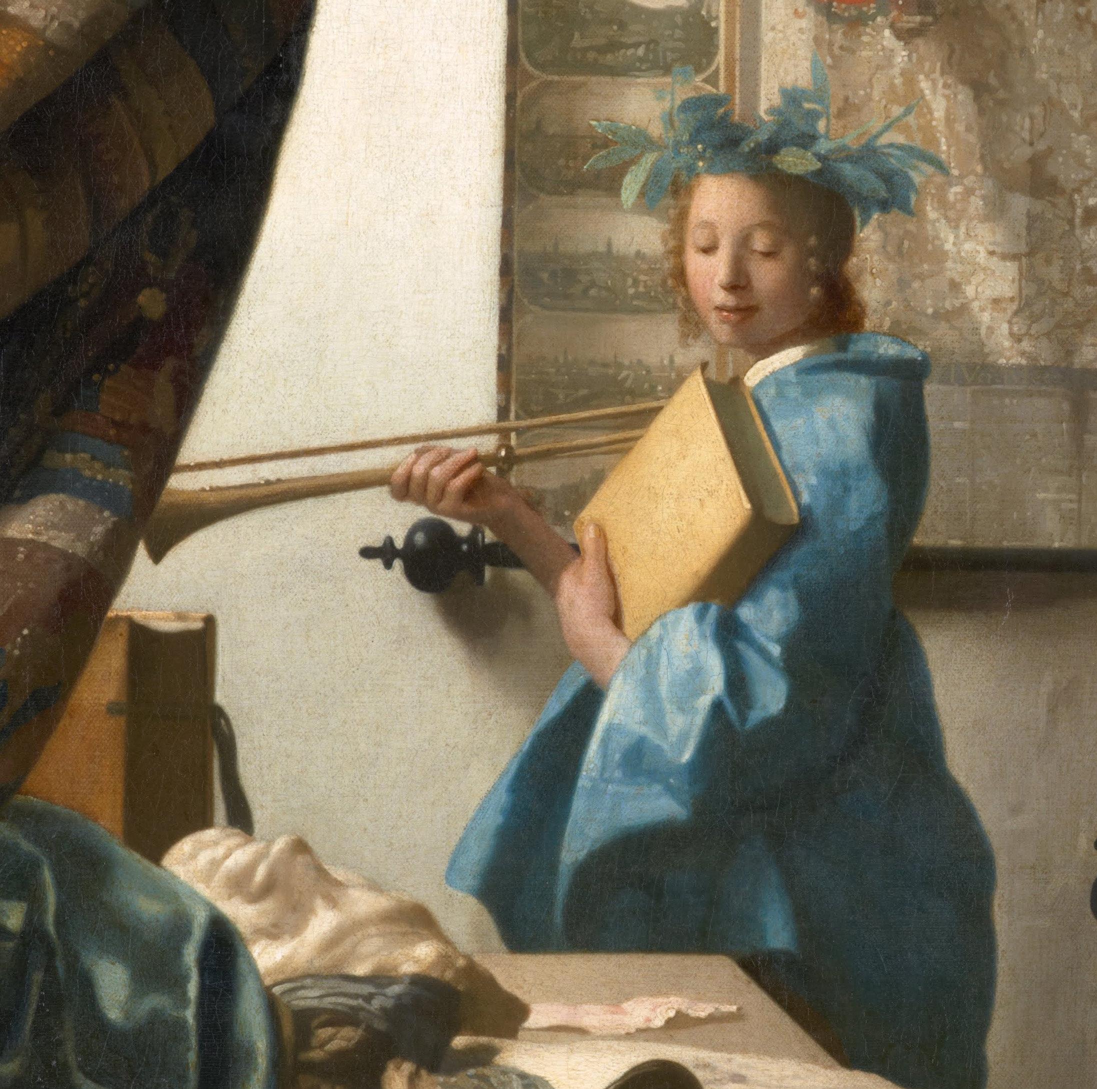 Vermeer: The Art of Painting (detail)