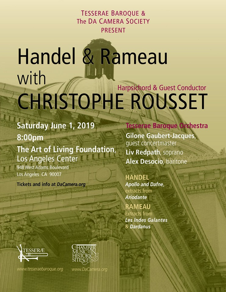 Tesserae Concert with Christophe Rousset, June 1st