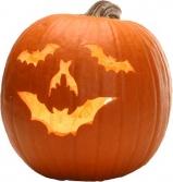 bat carved pumpkin!