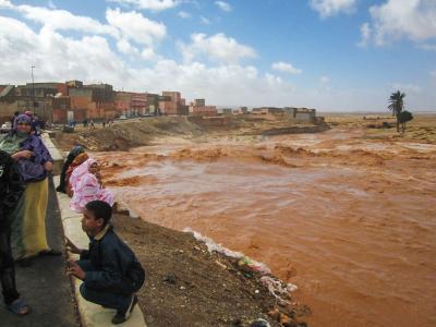 Floods in Guelmim, Morocco in March 2013 (Credit: jbdodane; https://www.flickr.com/photos/jbdodane/).