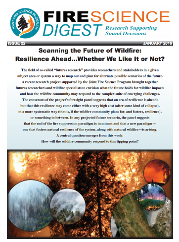Cover: Scanning the Future of Wildfire
