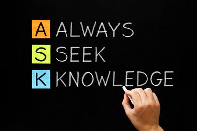 ILLUSTRATION: ALWAYS SEEK KNOWLEDGE