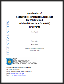 Cover of Geospatial Technological Approaches for Wildland and WUI Fire Events