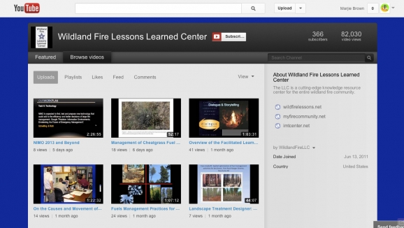 Wildland Fire Lessons Learned Center YouTube Channel