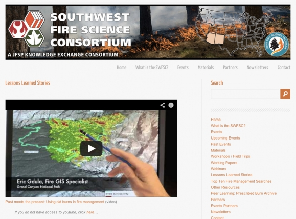 Southwest Fire Science Consortium Lessons Learned Videos
