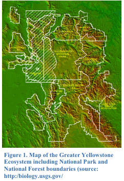 Map of Greater Yellowstone Ecosystem