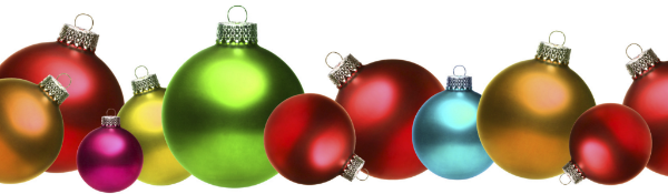 Row of ornaments