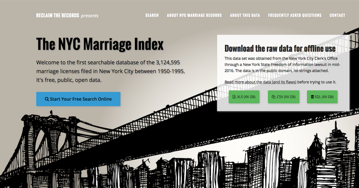 The NYC Marriage Index