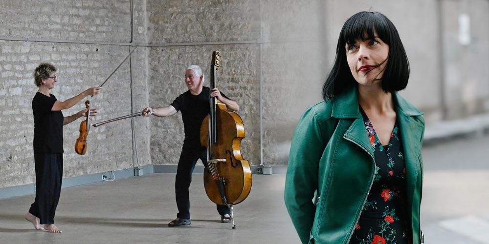 Doireann Ní Ghríofa, Maya Homburger and Barry Guy