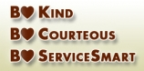 Be Kind, Be Courteous, Be ServiceSmart