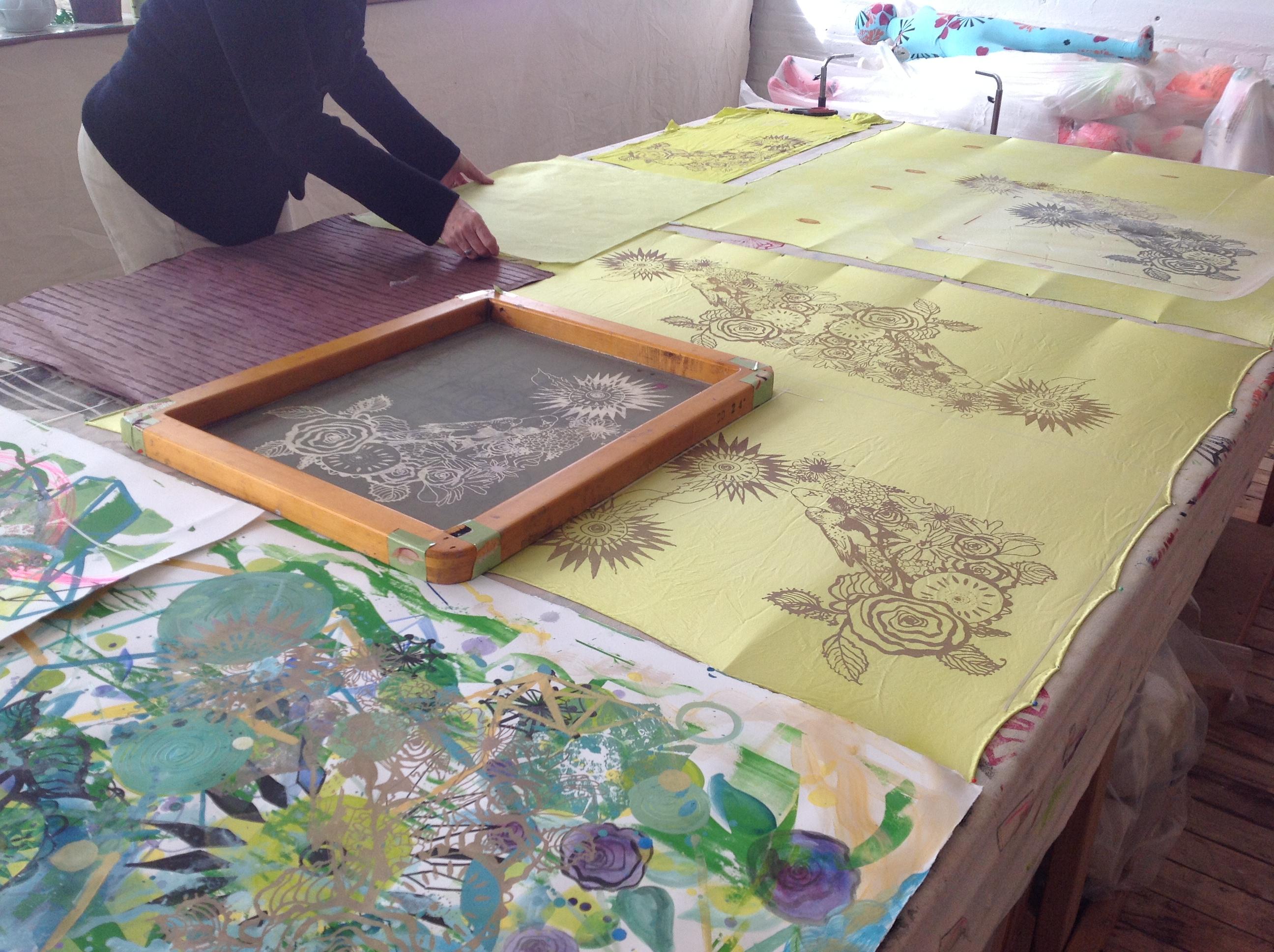 Printing on fabric yardage/paper class