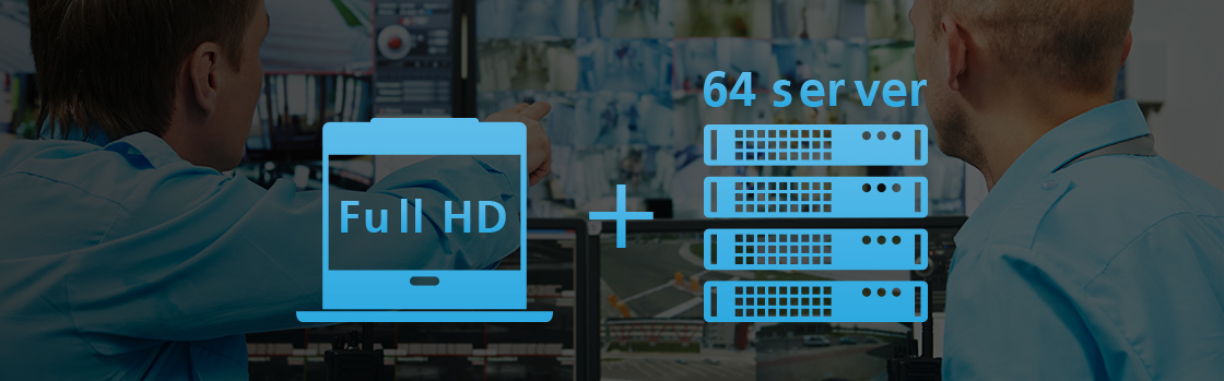 CL6708MW Full HD and 64 servers