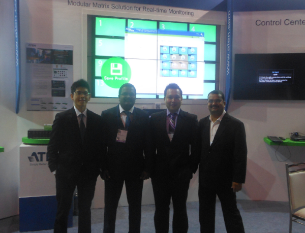 The InfoComm India Team with the Video Matrix Switch