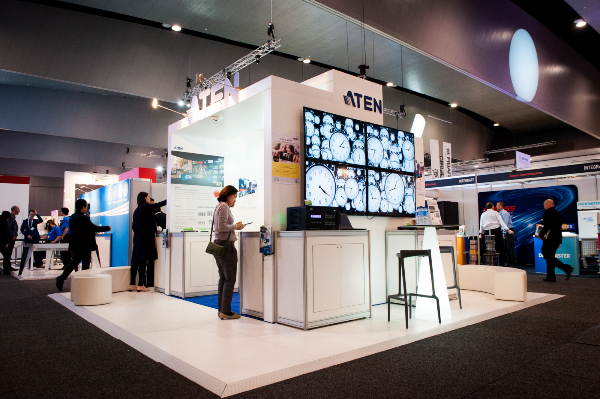 Integrate Australia ATEN Booth Featuring the Video Matrix Series