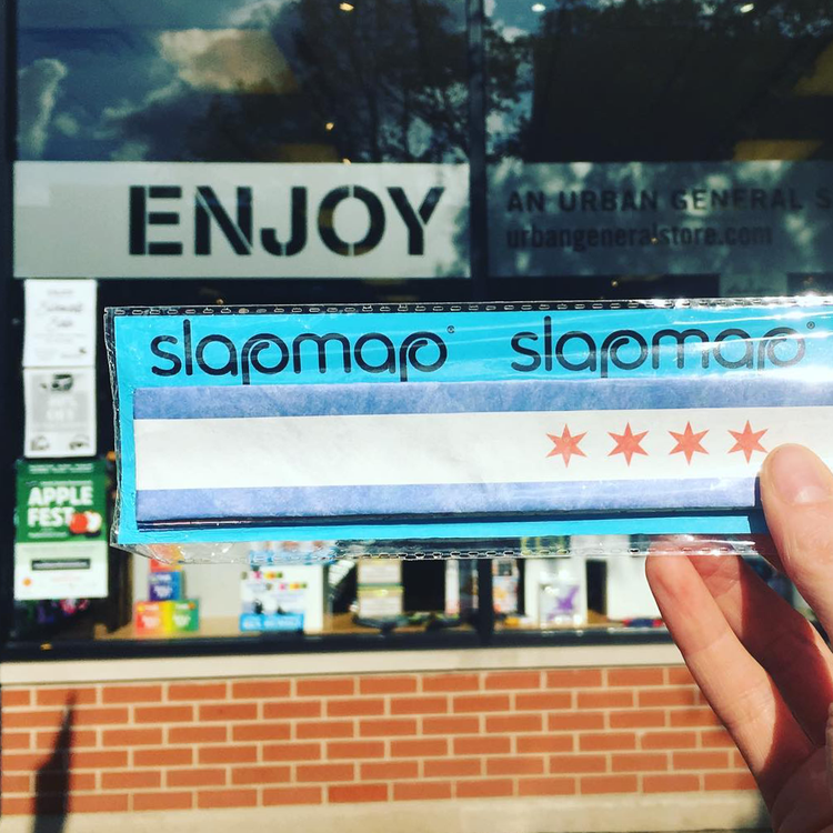 Slap Map Chicago Map Bracelet