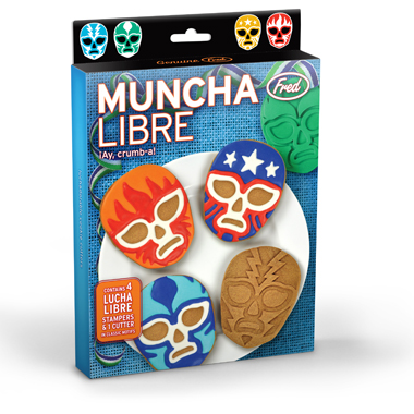 Muncha Libre Lucha Libre Masks Cookie Stampers and Cutter
