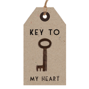 Key To My Heart Vintage Key with Tag in Gift Box