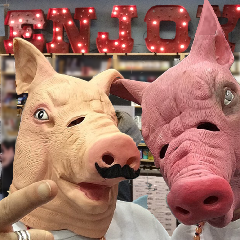 Creepy Pig Head Masks