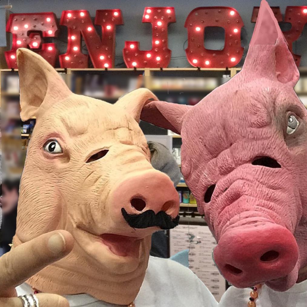Creepy Pig Head Masks