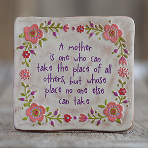 A Mother is... Terra Cotta Keepsake