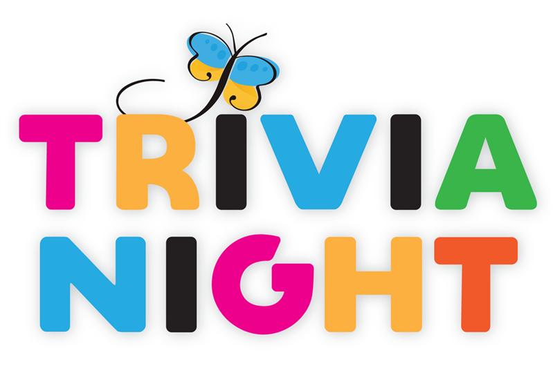 Trivia Night logo with Blind Beginnings butterfly