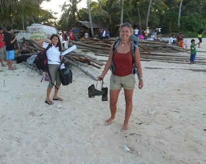 we komen aan op Caluya eiland