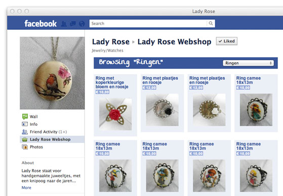 Facebook Store Example