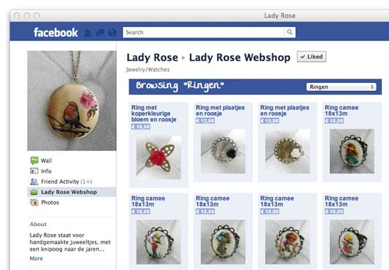 Facebook Store Example