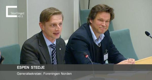 Foreningen Norden på høring i Stortinget