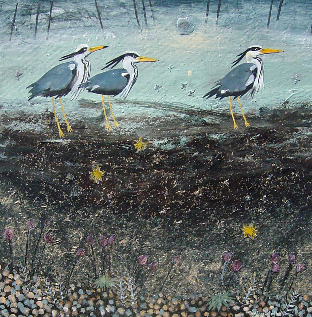 A Row of Herons INGEBJORG SMITH