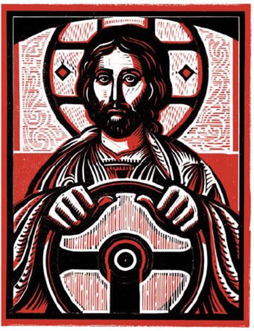 """Jesus take the wheel."""