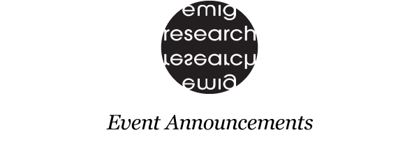 Emig Research | Event Announcements