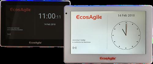 Timbracartellino innovativo con trasmissione dati in tempo reale al software EcosAgile Time