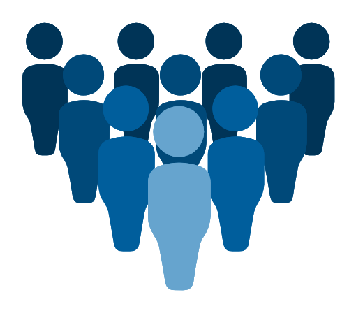 Graphic with group of people