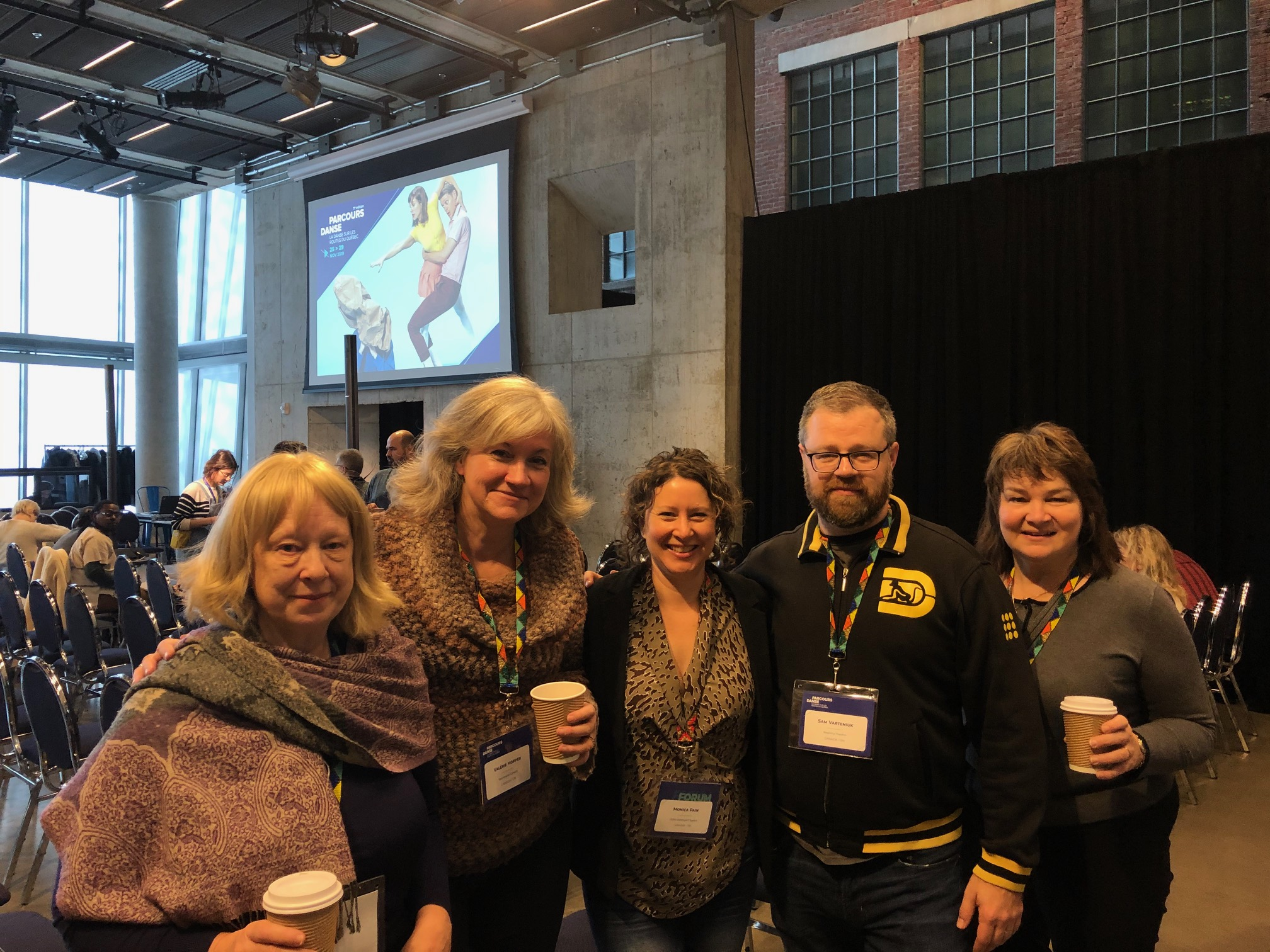 Judy Harquail, Valerie Hopper, Monica Pain, Sam Varteniuk, and Helen Studholme at Parcours Danse