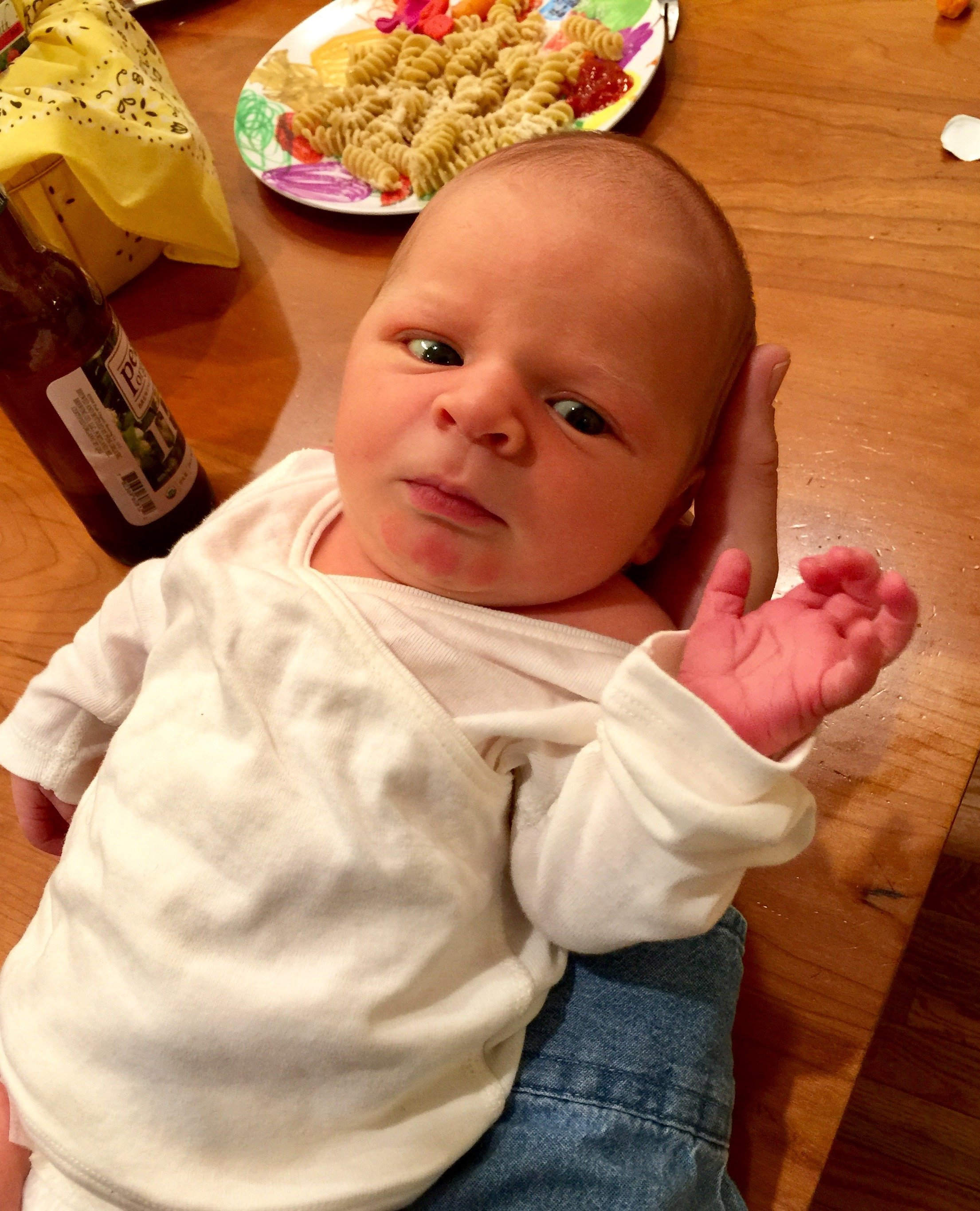 4-day-old new grandson