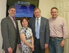 Selling to China Seminar: Mitchell Wolfe, Candy Yu, Chamber CEO Michael Ratcliffe and Martin Horwood MP